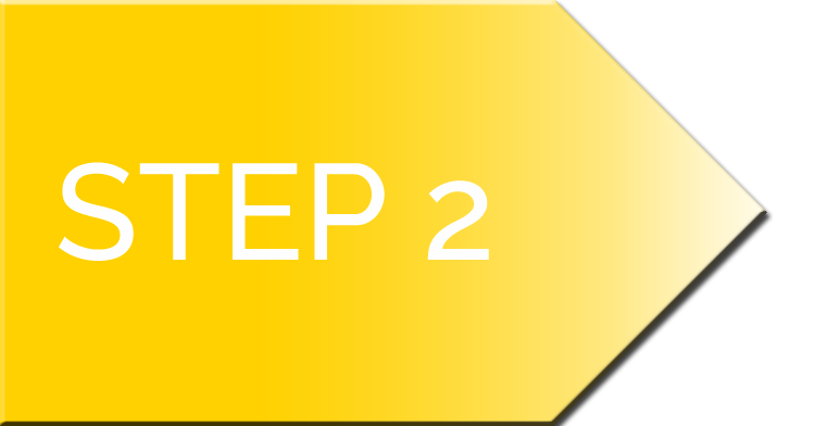 nifty website design process Step 2 Arrow