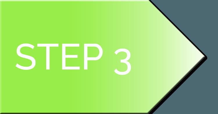 nifty website design process Step 3 Arrow