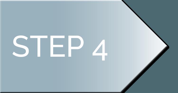 nifty website design process Step 4 Arrow