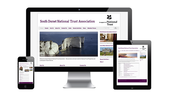 Laptop-With-South-Dorset-National-Trust-Website-by-nifty-website-wesign