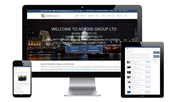 nifty website design AD2000 Group Ltd Website