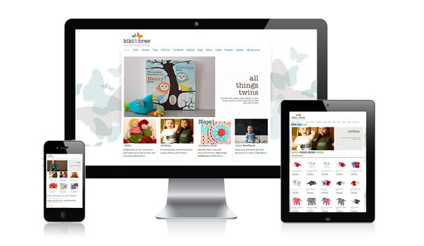 nifty website design Kiki & Bree Website